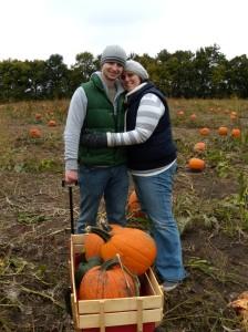 Daniel & I with our pumpkin bounty.