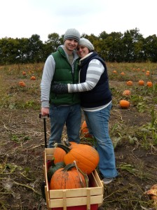 Daniel & I with our pumpkin bounty.